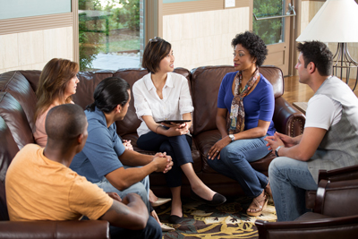 professionals in recovery - group therapy - victory addiction recovery center