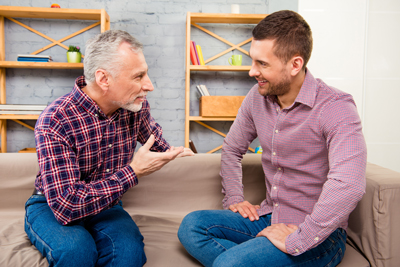 Gender Specific Therapy - two males talking - victory addiction recovery center