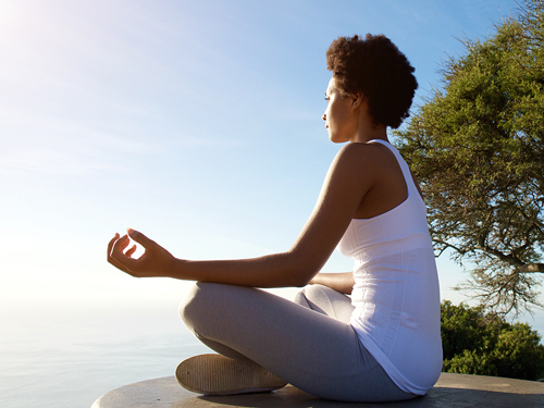 Using Meditation for Recovery - woman meditating
