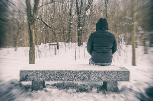 Let in the Light: Seasonal Affective Disorder and Substance Abuse - man depressed in winter