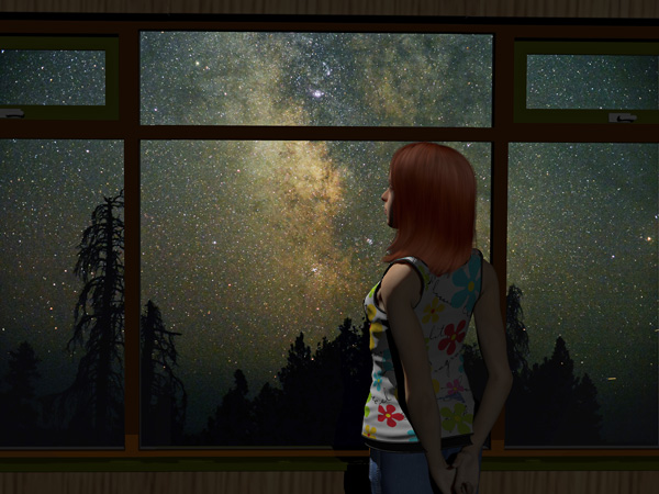 Problems-Women-Face-in-Recovery-and-How-to-Handle-Them - painting of woman at window looking at stars
